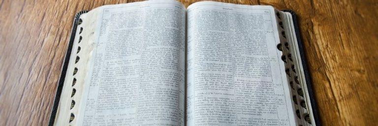 Bible laid flat