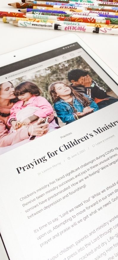Children's Ministry Basics - a Blog Promo Picture of screen